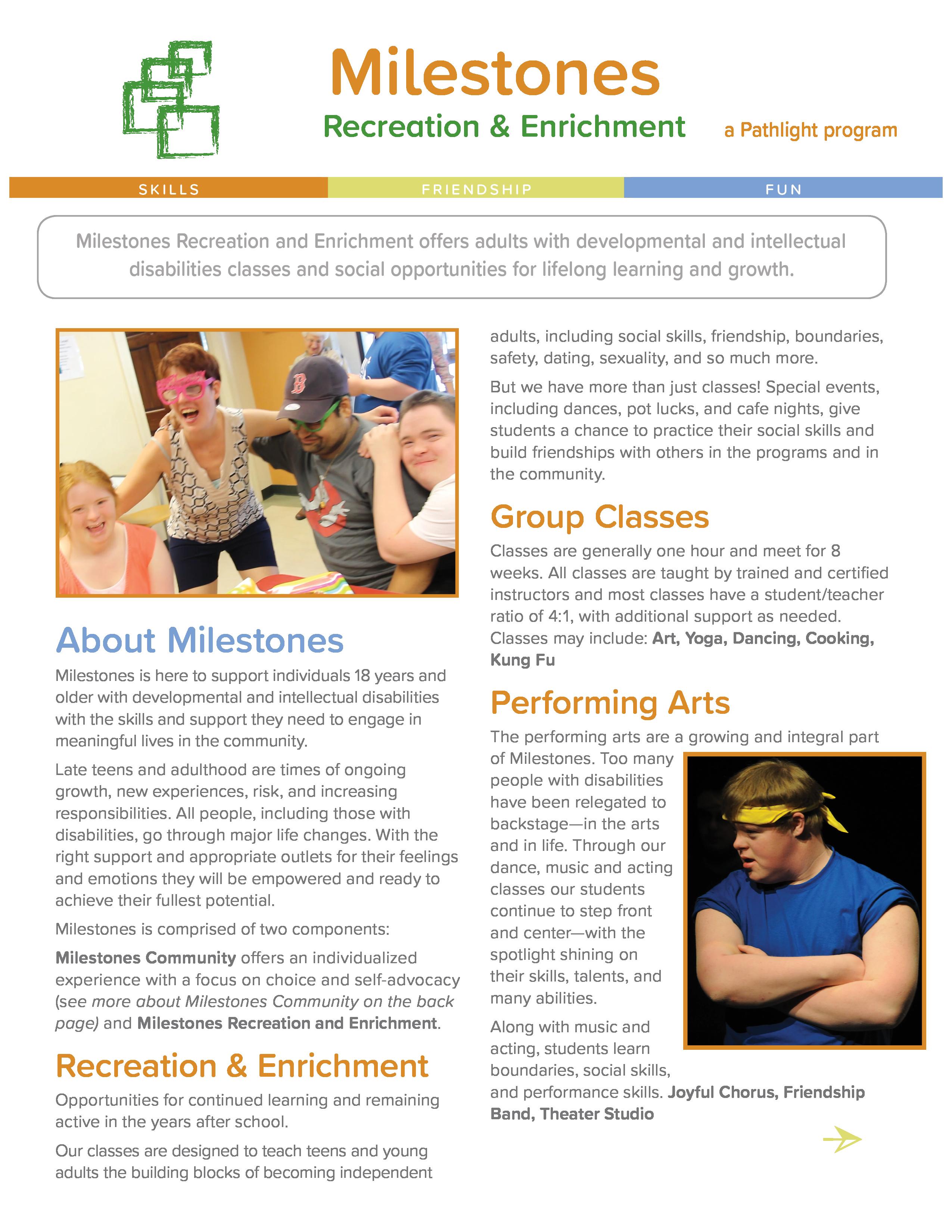 Milestones Rec & Enrichment flat thumbnail